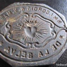 Coleccionismo: SELLO DE LACRE - SELLO RELIGIOSO DE LA SELVA DEL CAMP TARRAGONA DEL XVIII. Lote 173795127