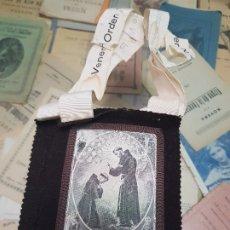 Coleccionismo: ANTIGUO ESCAPULARIO ORDEN TERCIARIA DE SAN FRANCISCO. Lote 173807663