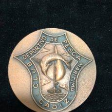 Coleccionismo: MEDALLA XXV ANIVERSARIO CLUB DEPORTIVO DE PESCA MARITIMA DE CADIZ - MEDIDA 5 CM. Lote 173837698
