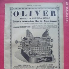 Coleccionismo: E. GIMENEZ PORRAS.-OLIVER.-MAQUINA ESCRITURA VISIBLE.-PUBLICIDAD.-BARCELONA.-AÑO 1905.. Lote 173844738