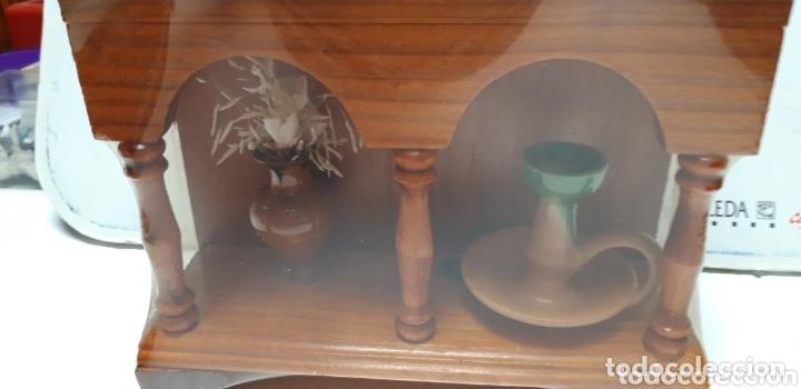 Coleccionismo: MUEBLE DECORACION EN MADERA 36 X 19 X 7 CM A ESTRENAR - Foto 2 - 173930617