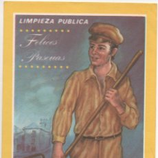 Coleccionismo: FELICES PASCUAS LIMPIEZA PUBLICA. Lote 173961135
