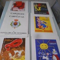 Coleccionismo: 28 CARTELES CARNAVAL DE SANTA CRUZ DE TENERIFE -CARPETA DE 1962/89 - 40 X 29 CMT HUELLA 30 X 20 C. Lote 173974653