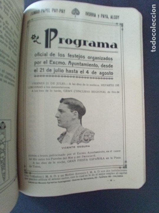 Coleccionismo: CTC - PROGRAMA FESTEJOS VALENCIA FERIA 1922 - PORTADA L. DUBON - MARAVILLOSO E IDEAL CONSERVADO - Foto 9 - 174084304