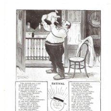Coleccionismo: AÑO 1913 RECORTE PRENSA POESIA ESTIVAL HUMOR JOSE LUENGO DIBUJO SILENO ILUSTRACION. Lote 174148830