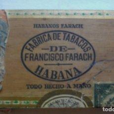 Coleccionismo: CAJA DE PUROS HABANOS CUBA LA FLOR DE FARACHS ( VACIA/ COLECC) PRE- EMBARGO. Lote 174233894