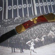 Coleccionismo: NAVAJA ORIGINAL, III REICH. SE FABRICARON COMO SUVENIR PROPAGANDÍSTICO. (1936-1940).. Lote 174296629