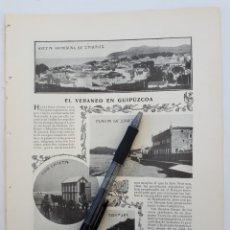 Coleccionismo: EL VERANEO EN GUIPÚZCOA. 1904. Lote 174297573