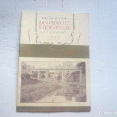 Coleccionismo: SAN PEDRO DE RIUDEVITLLES-FIESTA MAYOR. Lote 174309173