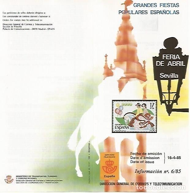 DIPTICO 16433: FERIA DE ABRIL DE SEVILLA (Coleccionismo - Laminas, Programas y Otros Documentos)