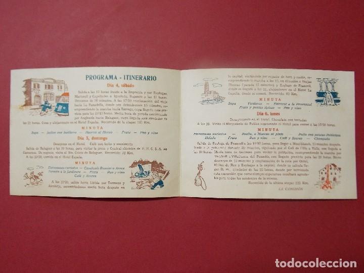 Coleccionismo: GRUPO EXCURSIONISTA ELZEVIR - BARCELONA - PROGRAMA INTINERARIO AÑO 1957... L283 - Foto 2 - 174366748