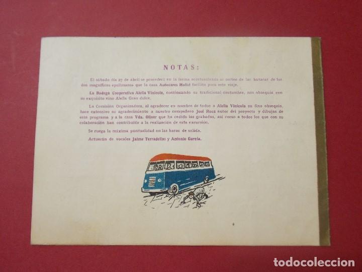 Coleccionismo: GRUPO EXCURSIONISTA ELZEVIR - BARCELONA - PROGRAMA INTINERARIO AÑO 1957... L283 - Foto 3 - 174366748