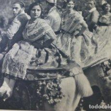 Coleccionismo: VALENCIA GRUPA VALENCIANA ANTIGUA LAMINA HUECOGRABADO AÑOS 30. Lote 174975239