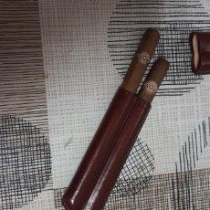 Coleccionismo: PUROS MONTECRISTO MAS PURETERA DE PIEL. Lote 175006340