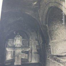 Coleccionismo: SAN PEDRO DE ROCAS ORENSE EREMITORIO ANTIGUA LAMINA HUECOGRABADO AÑOS 40. Lote 175050762