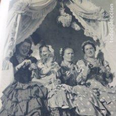 Coleccionismo: EL ROCIO ROMERIA CARRETA ANTIGUA LAMINA HUECOGRABADO AÑOS 40. Lote 175058442