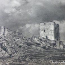 Coleccionismo: FERIA BADAJOZ CASTILLO ANTIGUA LAMINA HUECOGRABADO AÑOS 50. Lote 175225702
