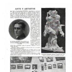 Coleccionismo: AÑO 1913 RECORTE PRENSA PINTURA EXPOSICION CUADROS OBRA PINTOR MARTINEZ VAZQUEZ SALON ITURRIOZ. Lote 175234359