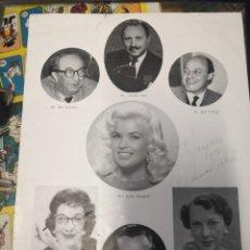 Coleccionismo: ANTIGUO PROGRAMA SOHO FAIR AÑO 1958 EVENTO BEAUTY CONTEST CAFE ROYAL FIRMADO MISS JAYNE MANSFIELD. Lote 175326879