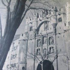 Coleccionismo: BURGOS ARCO DE SANTA MARIA ANTIGUA LAMINA HUECOGRABADO AÑOS 40 . Lote 175405008