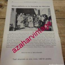 Coleccionismo: SEVILLA, 1917, JOSELITO EL GALLO Y SU MADRE EN UNA MESA PETITORIA FIESTA DE LA FLOR, HOJA REVISTA. Lote 175440123