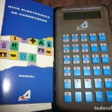 Coleccionismo: GUIA ELECTRONICA DE CARRETERAS,BOLSILLO,MANUAL Y GARANTIAS, ESTUCHE TELEFONICA. Lote 175470178