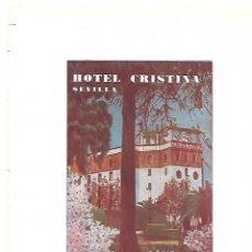Coleccionismo: AÑO 1954 RECORTE PRENSA PUBLICIDAD HOTEL CRISTINA DE SEVILLA. Lote 175579633