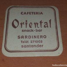 Coleccionismo: POSAVASOS CAFETERIA ORIENTAL SANTANDER. Lote 175663139