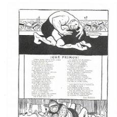 Coleccionismo: AÑO 1914 RECORTE PRENSA POESIA QUE PRIMOS POR JOSE RODAO DIBUJO SILENO ILUSTRACION. Lote 175726245