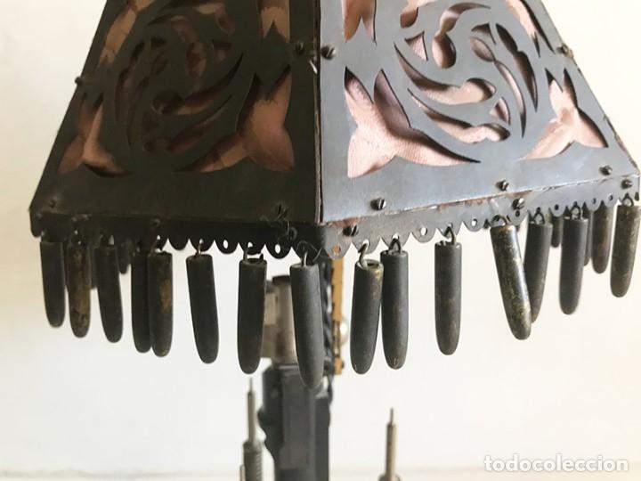 Coleccionismo: ORIGINAL LAMPARA DE SOBREMESA ARTESANAL COMPUESTA DE PIEZAS MAUSER - Foto 6 - 175733825