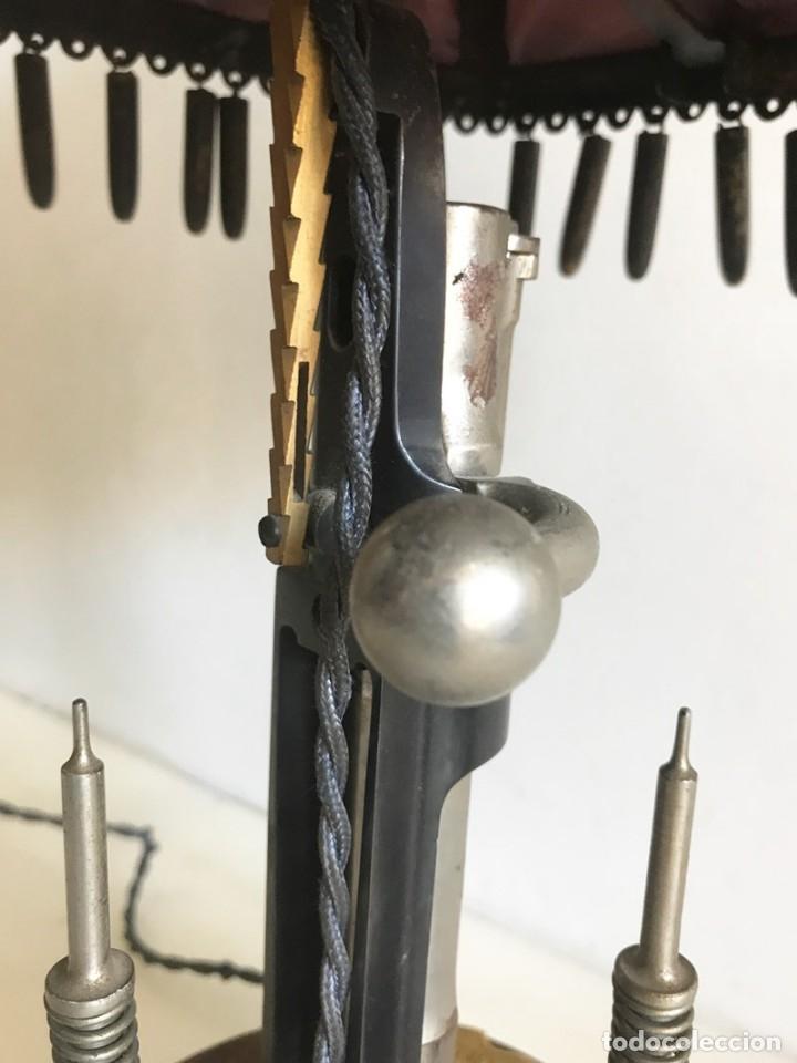 Coleccionismo: ORIGINAL LAMPARA DE SOBREMESA ARTESANAL COMPUESTA DE PIEZAS MAUSER - Foto 8 - 175733825