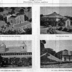 Coleccionismo: LÁMINAS ESPASA - MAGNETISMO OBSERVATORIO DE EBRO TORTOSA Y OTROS. Lote 175775673