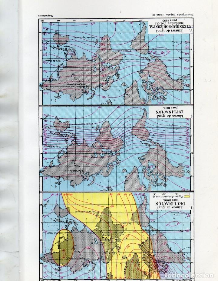 LÁMINAS ESPASA - MAGNETISMO TERRESTRE I Y II (Coleccionismo - Laminas, Programas y Otros Documentos)