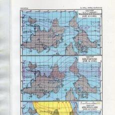 Coleccionismo: LÁMINAS ESPASA - MAGNETISMO TERRESTRE I Y II. Lote 175776552