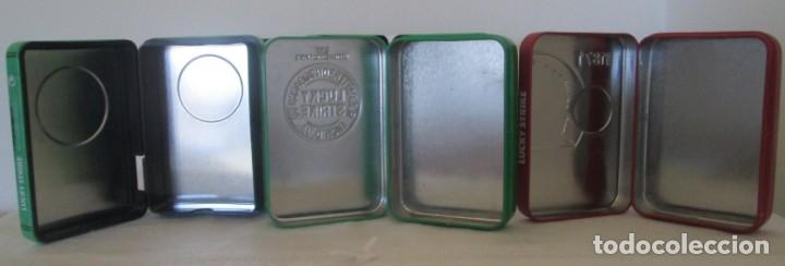 Coleccionismo: Cinco cajas de lata para cigarrillos Lucky Strike. Diferentes. - Foto 5 - 176027114