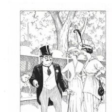 Coleccionismo: AÑO 1914 RECORTE PRENSA HUMOR DIBUJO COMIC CARICATURA EN LA EXPOSICION CANINA POR ATIZA. Lote 176150330