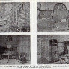 Coleccionismo: LÁMINA ESPASA - VIVIENDA - ARQUITECTO JOSÉ HOFFMANN. Lote 176205944