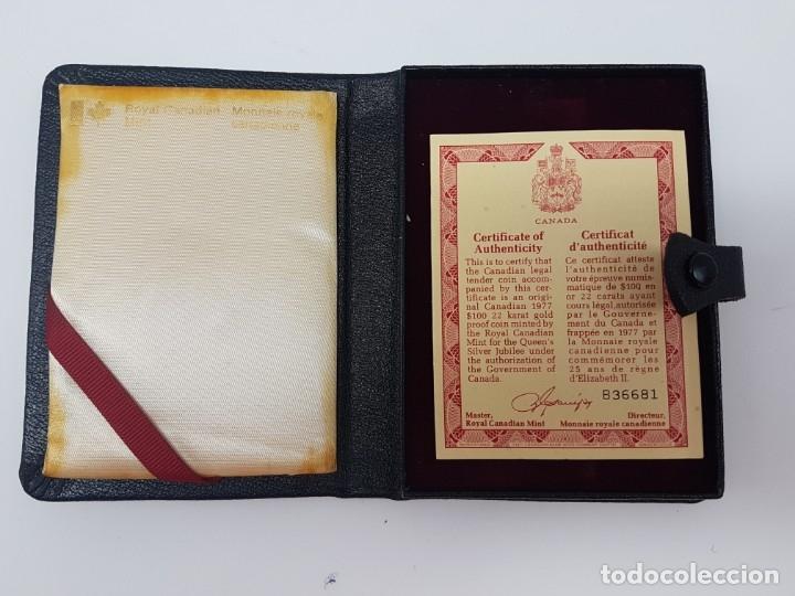 Coleccionismo: ESTUCHE VACIO PARA MONEDA ORO CANADÁ ( ISABEL XXV ) ANIVERSÁRIO - Foto 3 - 176211793