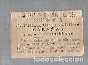 Coleccionismo: ANTIGUO CROMO. CIGARROS CABAÑAS. CUBANOS ILUSTRES. PATRIOTA. NESTOR ARANGUREN - Foto 2 - 176319647