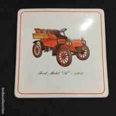 Coleccionismo: SALVAMANTELES FORD MODEL A 1903 PROTEX USA PRO-TEX TRIVET VINTAGE COCHES. Lote 176355100