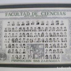 Coleccionismo: ORLA DE PROMOCIÓN 1968 ZARAGOZA. FACULTAD DE CIENCIAS, SECCIÓN QUÍMICAS. RECTOR JUAN CABRERA FELIPE.. Lote 176590904