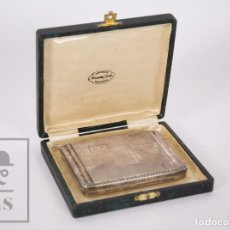 Coleccionismo: ANTIGUA PITILLERA ART DÉCO - JOYERÍA ALMACENES JORBA, MANRESA - CIRCA 1930. Lote 176637623