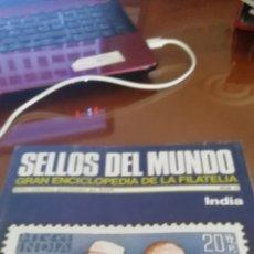 Coleccionismo: SELLOS DEL MUNDO. LA INDIA. GRAN ENCICLOPEDIA FILATELIA.. Lote 176641533