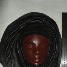 Coleccionismo: PRECIOSA MASCARA DE PIEL GENUÍNA DE LA REPÚBLICA DOMINICANA . Lote 176668882