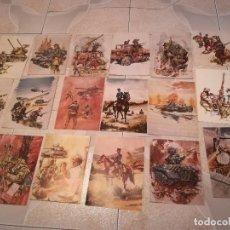 Coleccionismo: 17 PORTADAS DIBUJO SOLDADOS Y FUERZAS ARMADAS. REVISTA GUIÓN DEL EJERCITO. Lote 176908342