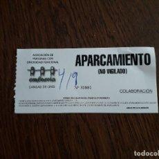 Coleccionismo: TICKET APARCAMIENTO, CANGAS DE ONÍS.. Lote 176941245
