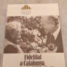 Coleccionismo: FULLETÓ ERC 1979 ESQUERRA REPUBLICANA DE CATALUNYA. Lote 177007160