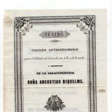 Coleccionismo: VALLADOLID.- PROGRAMA DE TEATRO.- IMPRENTA DE J. Mª LEZCANO ROLDÁN. CIRCA.1850. Lote 177208572