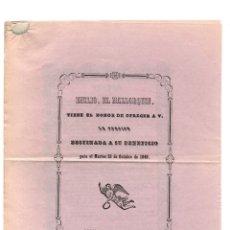 Coleccionismo: VALLADOLID.- PROGRAMA DE TEATRO.- IMPRENTA DE J. Mª LEZCANO ROLDÁN. 1849. Lote 177208930