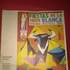 Coleccionismo: FIESTAS DE VITORIA 1961. Lote 177619083